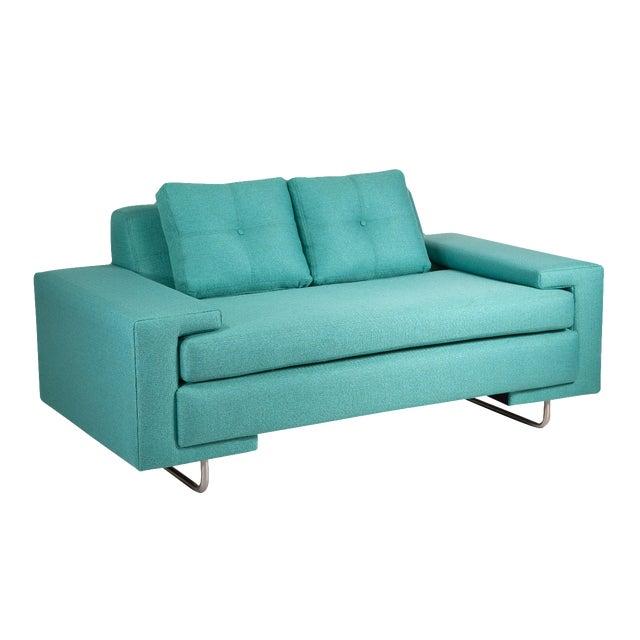 Modern Turquoise Rico Loveseat Chairish
