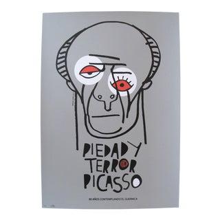 2017 Cuban Silkscreen, Guernica Pablo Picasso (gray)