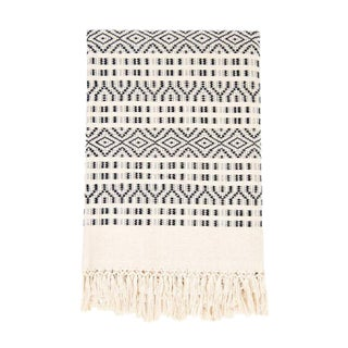 Black & Cream Cotton Chiapas Throw