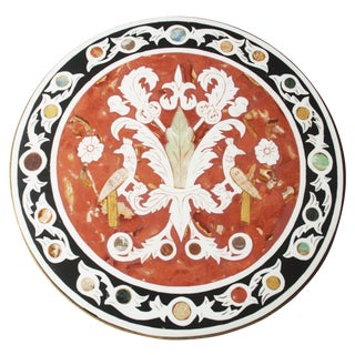 Vintage Pietra Dura Mosaic Side Table