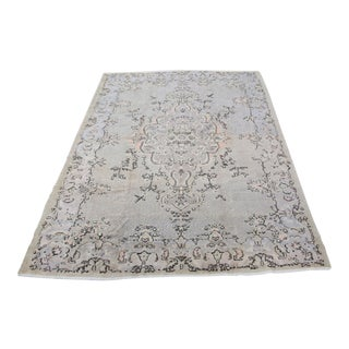 Vintage Turkish Over Dyes Carpet - 7′4″ × 10′9″