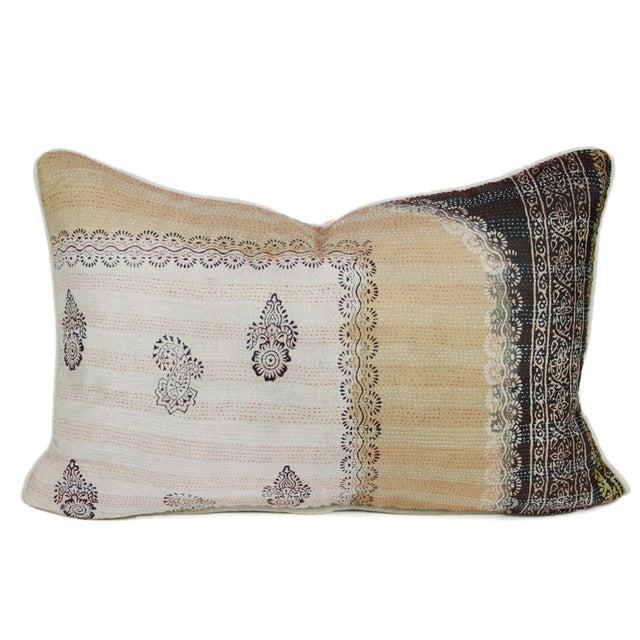 Bengal Silk Katha Paisley Pillow - Image 1 of 3