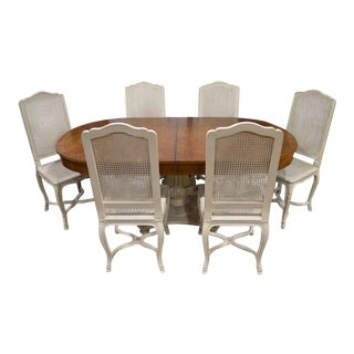Vintage Country French Pedestal Table & Chairs