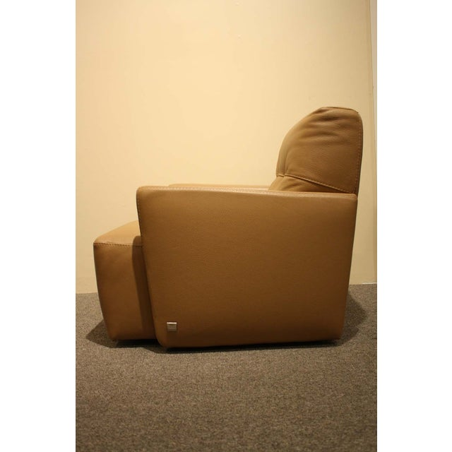 Image of Nicoletti Clia Italia Camel Leather Club Chair
