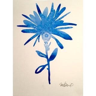 """Cobalt Botanical"" Original Watercolor Painting"