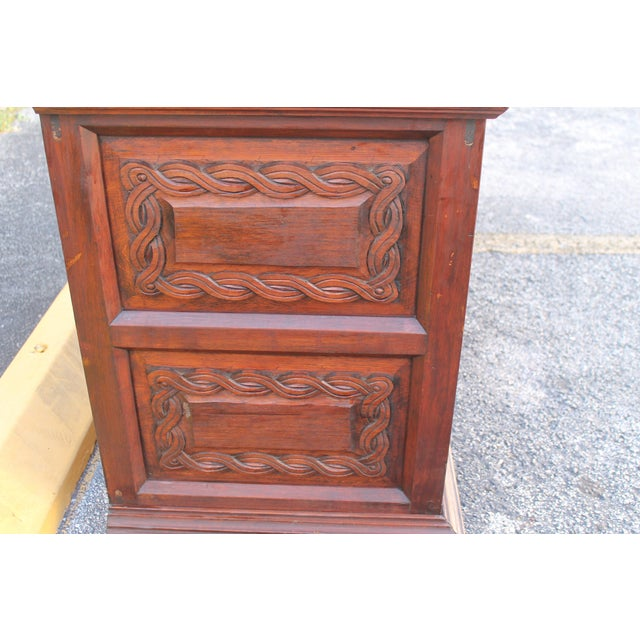 Antique Carved Spanish Boxwood Dresser - Image 9 of 11