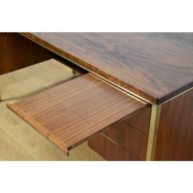 Walnut Executive Desk - Image 10 of 11