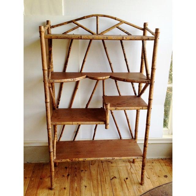 AntiqueTortoise Bamboo Display Shelf Bookcase - Image 2 of 6