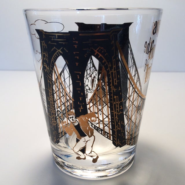 "2 - Hollywood Regency Lo-Ball Glasses ""A View From the Bridge"" - Image 4 of 10"