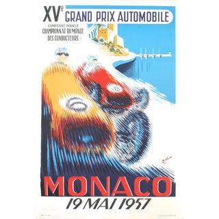 """B. Minne """"Monaco Grand Prix 1957"""" Lithograph"""