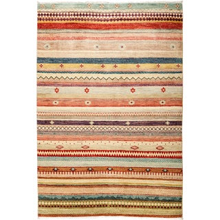 "Lori Hand Knotted Area Rug - 4'2"" X 6'1"""