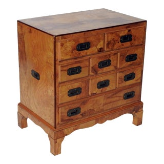 Mid-Century Olivewood Bachelor's Chest