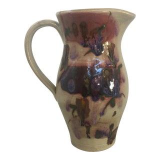 Vintage Italian Glazed Ceramic Vase or Pitcher