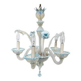 Venetian Style Murano Hand Blown Art Glass Chandelier