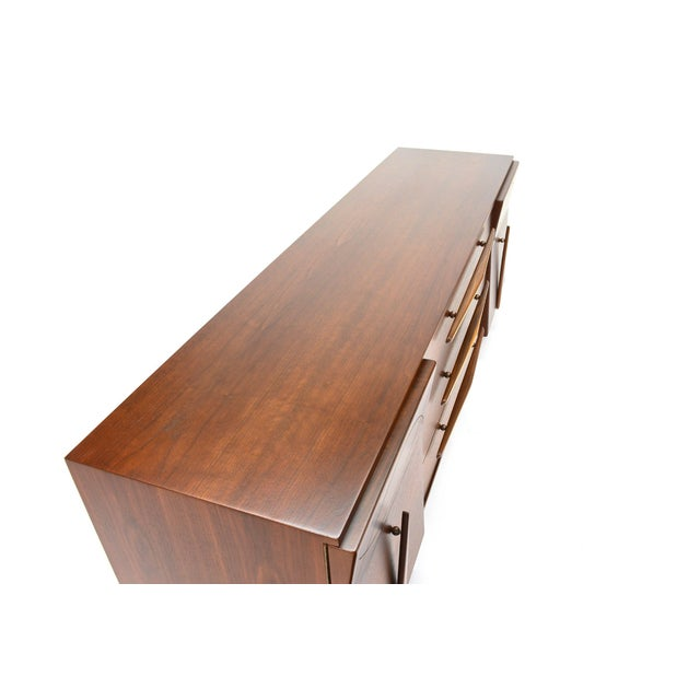 Mexican Modernist Walnut Credenza - Image 3 of 8