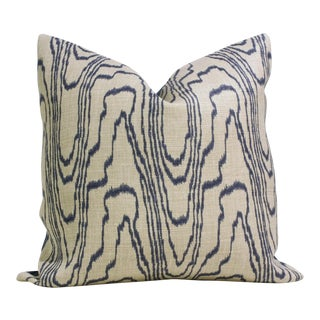 """20"""" x 20"""" Lee Jofa Groundworks Agate Slate Linen Pillow Cover"""