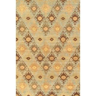 Pasargad's Ikat Wool Rug - 4′ × 6′