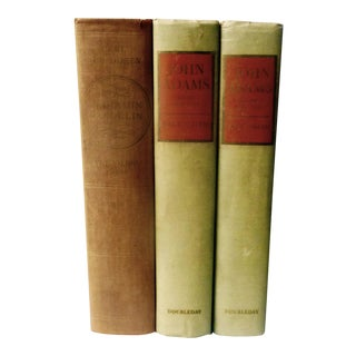 'Early American History Books: Adams & Franklin' - Set of 3