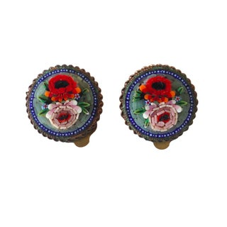 Vintage Italian Mosaic Earrings