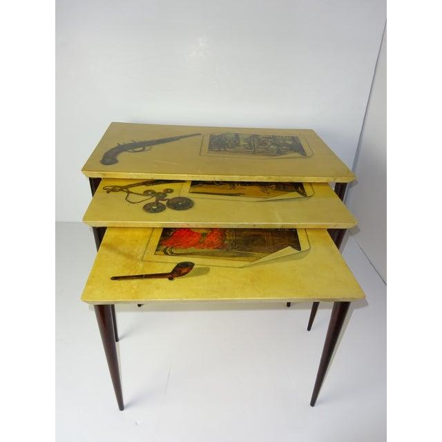 Aldo Tura Parchment Gigogne Tables - Set of 3 - Image 2 of 8