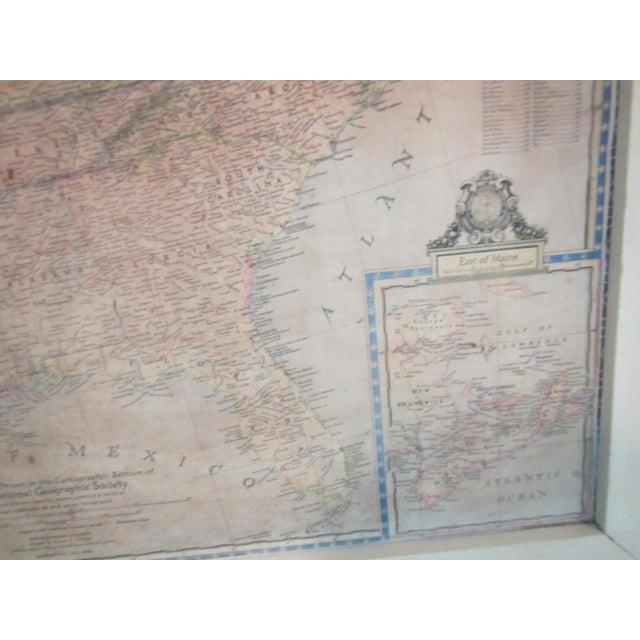Framed Vintage National Geographic USA Map Chairish - National geographic us map