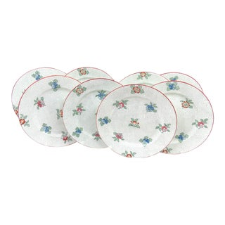 Hughes Staffordshire China Salad Plates - Set of 8