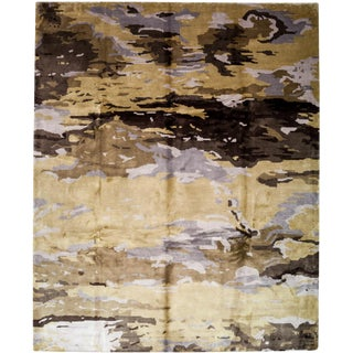 "New Contemporary Hand Knotted Area Rug - 8'1"" x 9'10"""