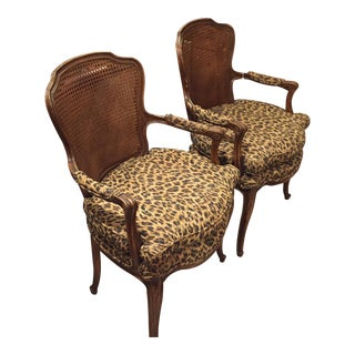 Leopard Print Chairs - A Pair