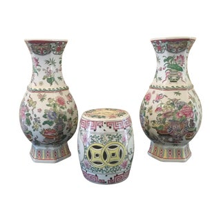 Cloisonné Vases With Potpourri Holder - Set of 3