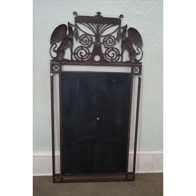 Medieval Gothic Custom Iron Frame Wall Mirror - Image 10 of 10