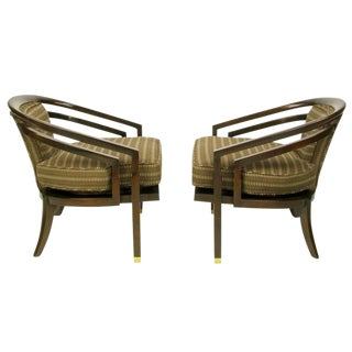 Pair of Elegant 1960s Club Chairs by Century