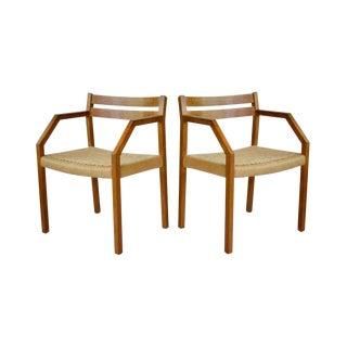 J.L. Moller #404 Teak Chairs - A Pair