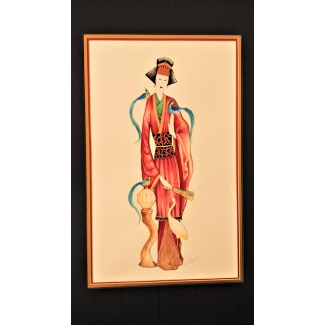 Vintage Signed Geisha Painting - Image 3 of 7