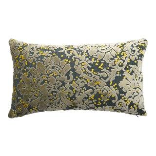 Italian Damask Velvet Lumbar Pillow