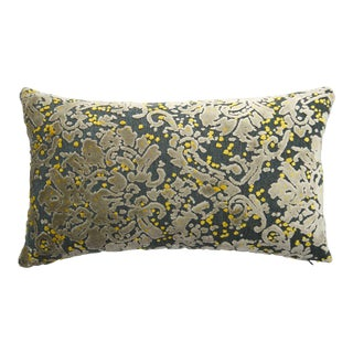 Italian Damask Velvet Lumbar Pillow