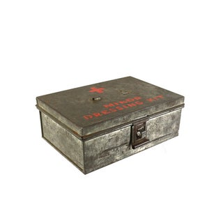 1940s WWII Vintage Metal Storage Box