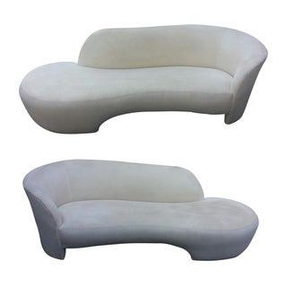 Vladimir Kagan Style Serpentine Sofas - A Pair