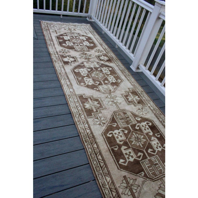 "Image of Vintage Persian Karajeh Runner - 3'6"" X 12'10"""