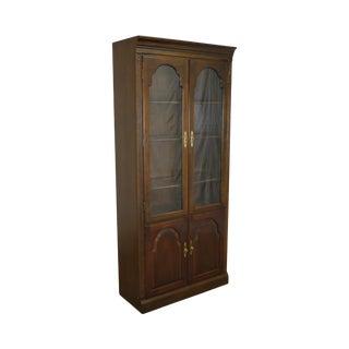 Ethan Allen Georgian Court Cherry Wood Bookcase Display Cabinet