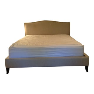 Crate & Barrel Colette Upholstered King Bed