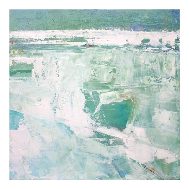 Original Abstract Beach Painting - Image 1 of 4