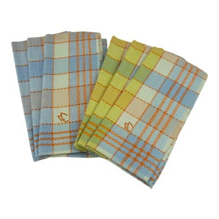 Multicolor Linen Monogrammed Towels - Set of 6