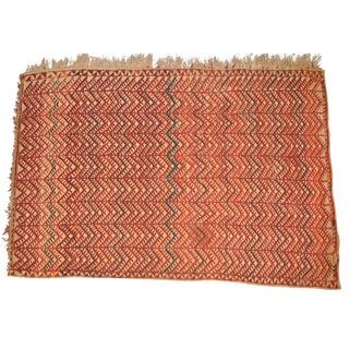 "Vintage Moroccan Wool Straw Rug - 5'10"" x 8'4"""