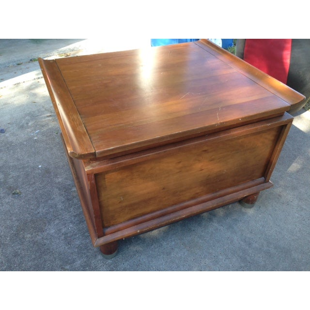 Willett Trans-East Cherry Wood Side Table - Image 4 of 5
