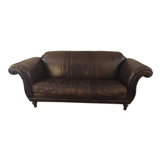 Anthropologie Leather Cotswald Sofa