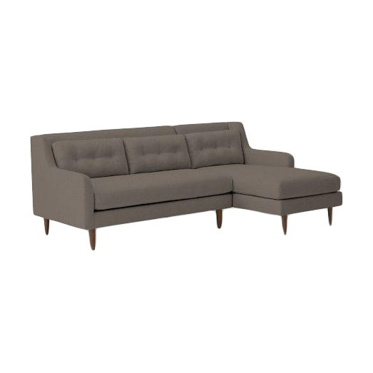 West Elm Crosby Chaise Sectional Chairish