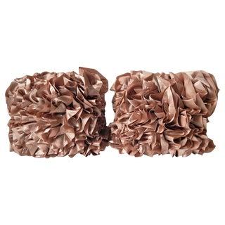 Satin Ruffle Pillows -Set of 3
