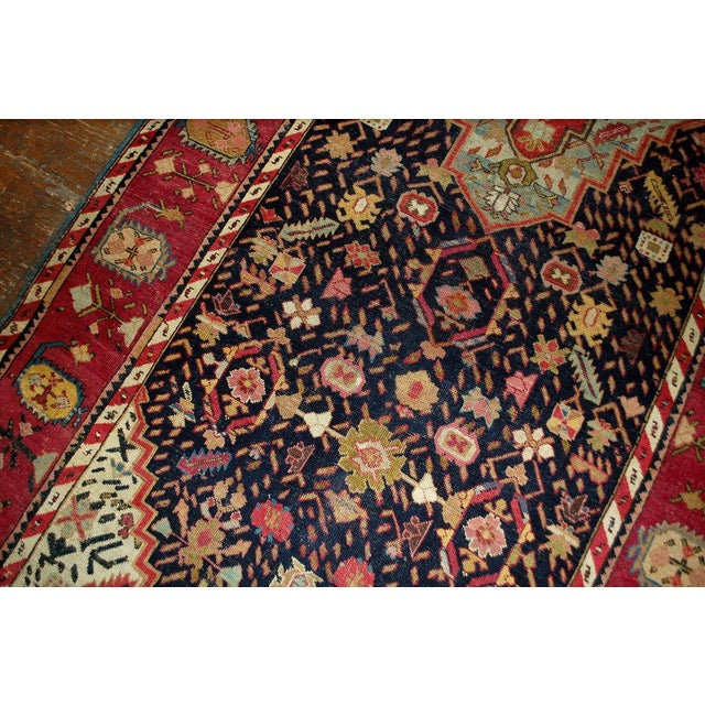 1880s Antique Hand Made Caucasian Karabagh Rug- 4′6″ × 11′7″ - Image 4 of 10