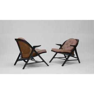 Pair of A-frame Lounge Chairs by Edward Wormley for Dunbar
