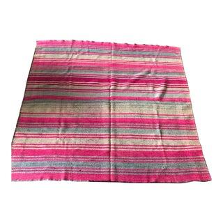 Vintage Pink Argentinian Loom Woven Blanket